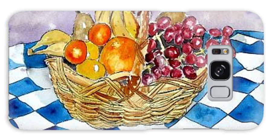 Fruit Basket Galaxy S8 Case featuring the painting Fruit Basket Still Life 2 Painting by Derek Mccrea