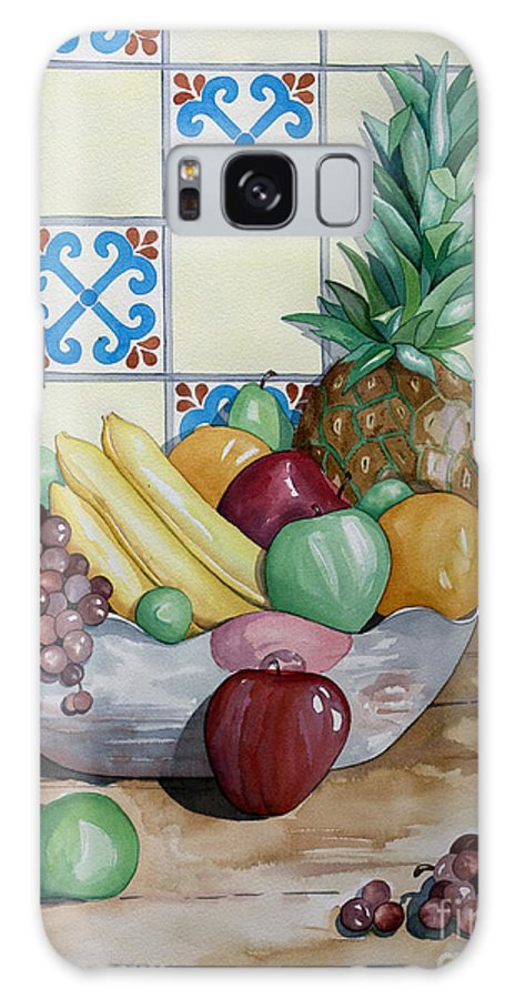 Fruit Painting Galaxy Case featuring the painting Fruit Bowl by Kandyce Waltensperger