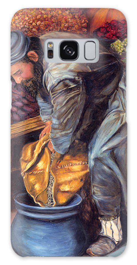 Figurative Painting Galaxy S8 Case featuring the painting Fruit Vendor by Portraits By NC