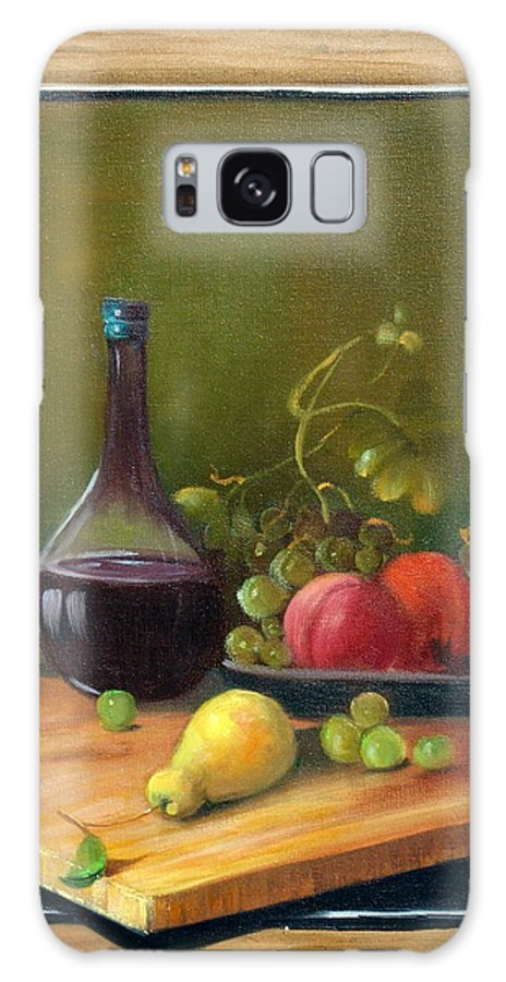 Still Life Galaxy S8 Case featuring the painting Fruits Of Life by Sally Seago
