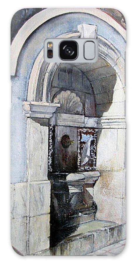 Fuente Galaxy Case featuring the painting Fuente Castro Urdiales by Tomas Castano