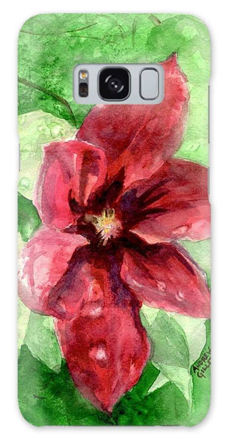 Flower Galaxy S8 Case featuring the painting Full Bloom by Andrew Gillette