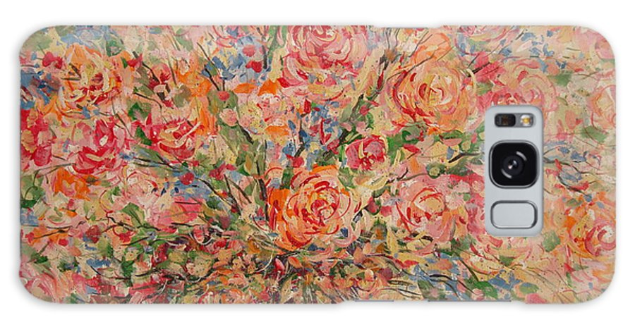 Flowers Galaxy Case featuring the painting Full Bouquet. by Leonard Holland