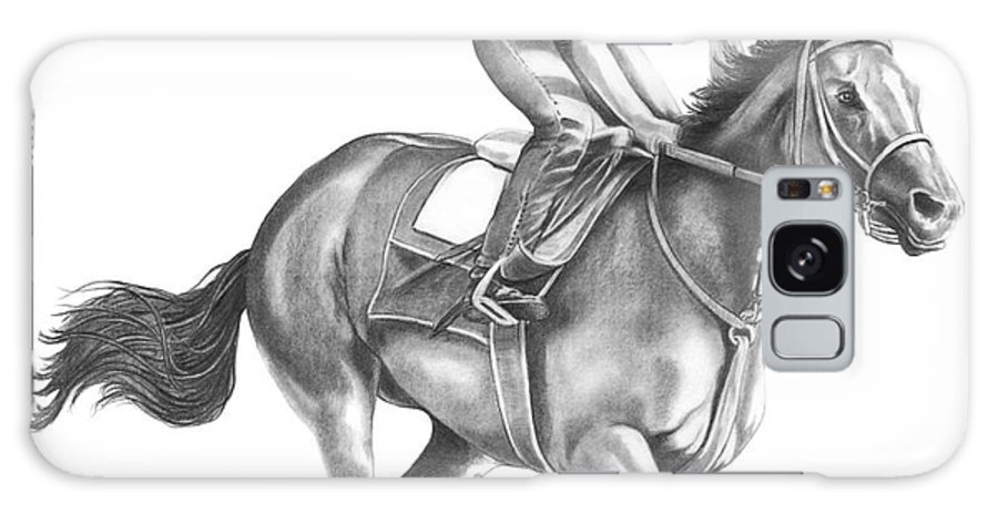 Horse Galaxy Case featuring the drawing Full Gallop by Murphy Elliott