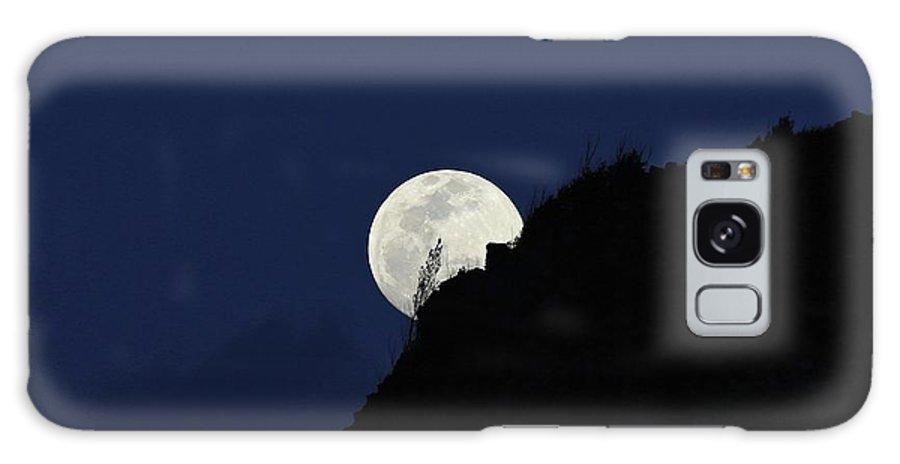 Photosbymch Galaxy S8 Case featuring the photograph Full Moon Behind Makapu'u by M C Hood