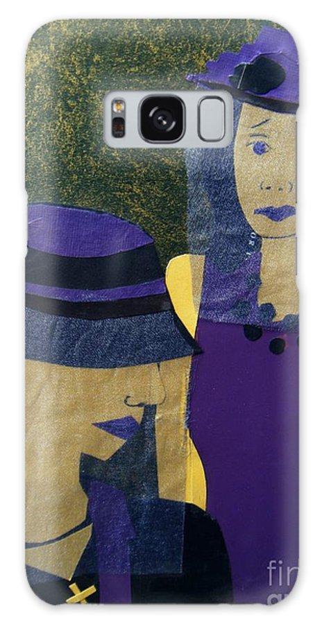 Purple Galaxy Case featuring the mixed media Funeral Masks by Debra Bretton Robinson