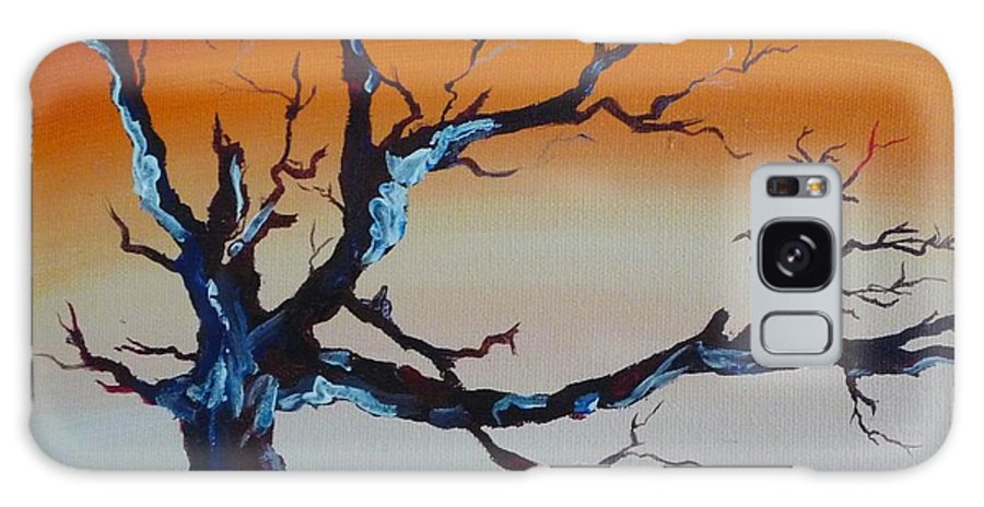 Tree Galaxy S8 Case featuring the painting Fungus Tree by Patti Bean