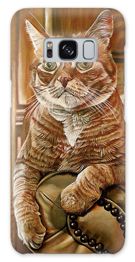 Cat Galaxy Case featuring the painting Furby by Cara Bevan