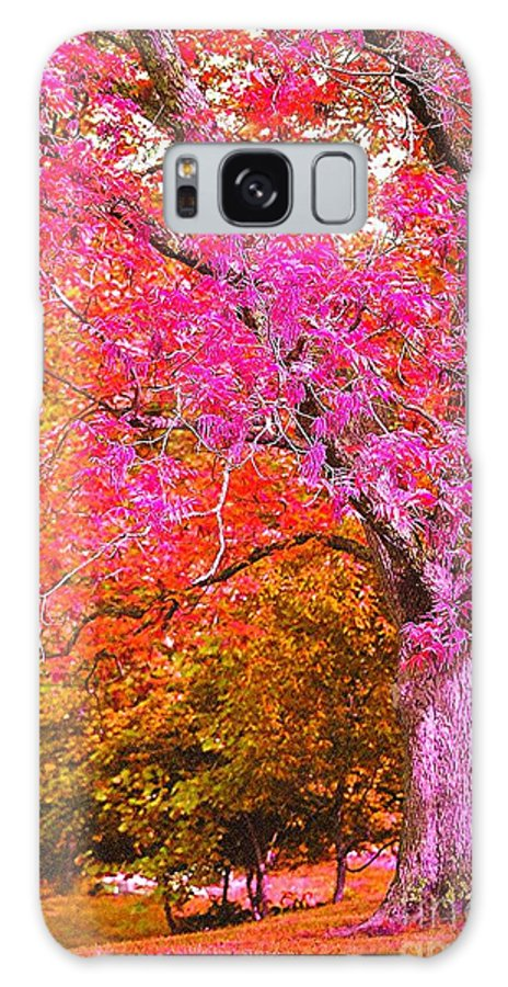 Fuschia Galaxy S8 Case featuring the photograph Fuschia Tree by Nadine Rippelmeyer