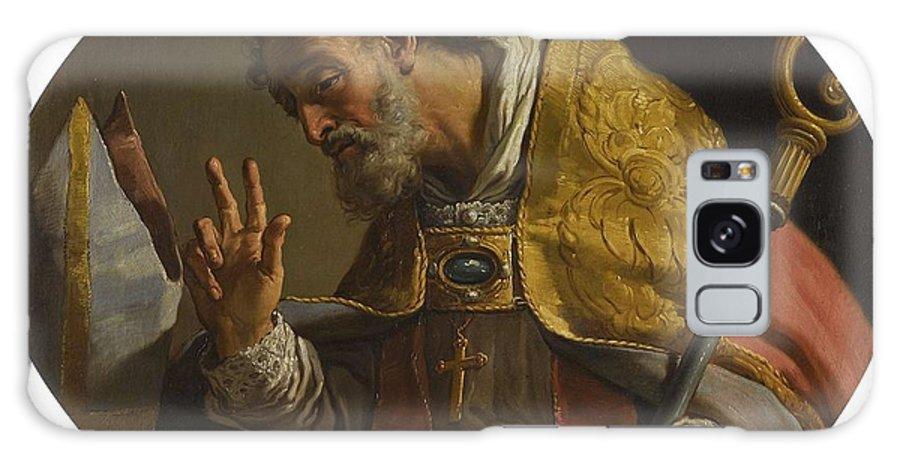 Man Galaxy S8 Case featuring the painting Gaetano Gandolfi San Matteo Della Decima Near Bologna 1734  1802 Bologna Saint Liborius by Bologna Saint Liborius