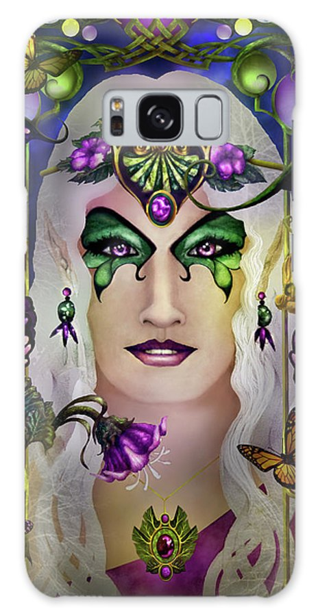 Tolkien Galaxy Case featuring the painting Galadriel In Progress by Curtiss Shaffer