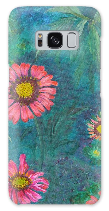 Garden Galaxy S8 Case featuring the painting Gallardia by Peggy King