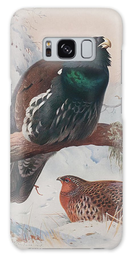 Season Galaxy S8 Case featuring the painting Game Birds And Wild-fowl by Archibald Thorburn