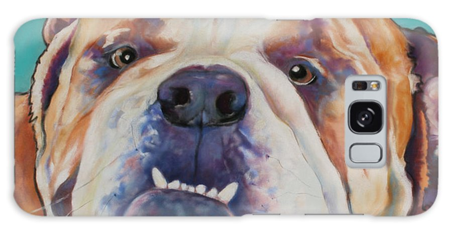 Pat Saunders-white Pet Portraits Galaxy S8 Case featuring the painting Game Face  by Pat Saunders-White