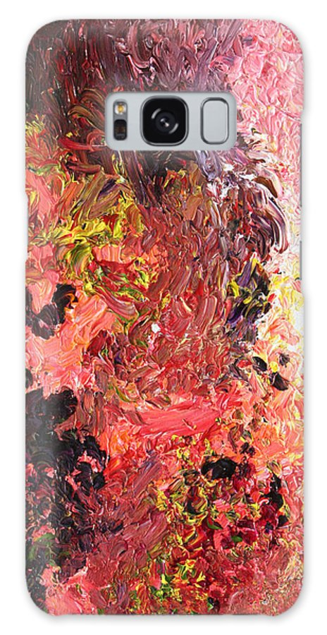Fusionart Galaxy Case featuring the painting Ganesh In The Garden by Ralph White