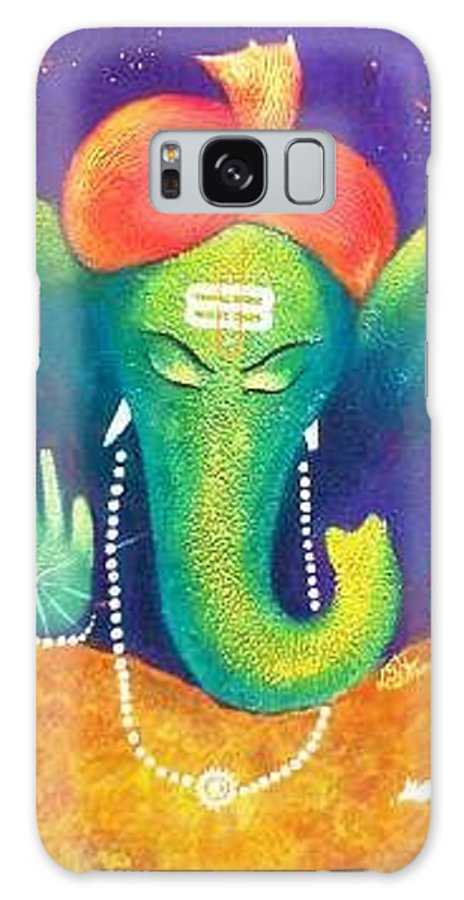 Galaxy S8 Case featuring the painting Ganesha 9 by Sanjay Punekar