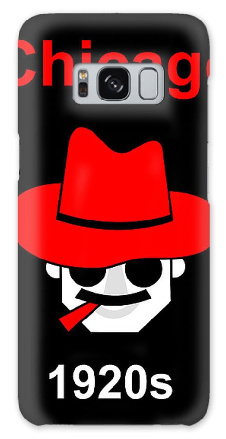 Gangster Galaxy S8 Case featuring the digital art Gangster by Asbjorn Lonvig