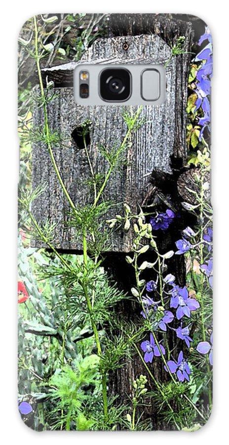 Bird House Galaxy S8 Case featuring the digital art Garden Birdhouse by Mark Grayden