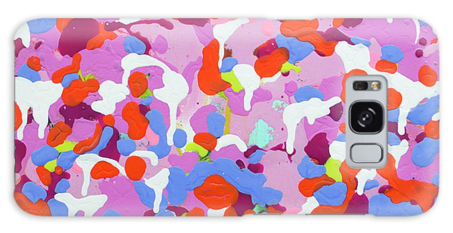 Abstract Galaxy S8 Case featuring the painting Garden Camo by Claire Desjardins