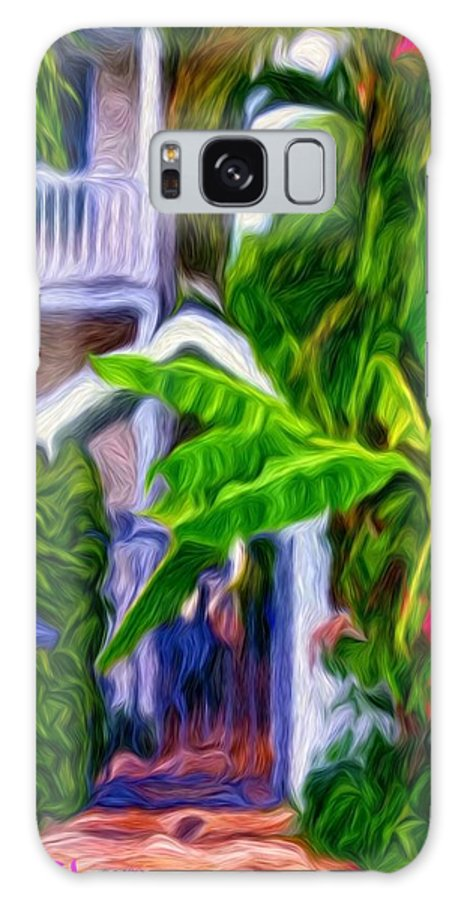 Tropical Galaxy S8 Case featuring the painting Garden Entrance by Susie Shaw