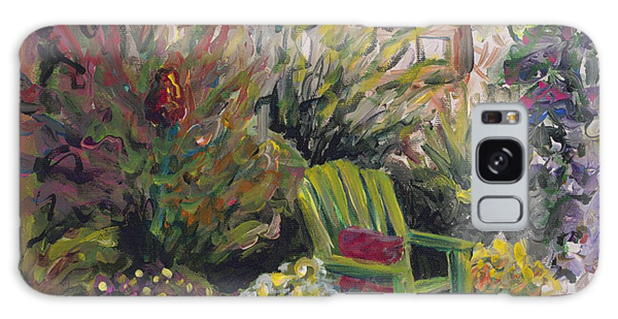 Green Galaxy Case featuring the painting Garden Escape by Nadine Rippelmeyer