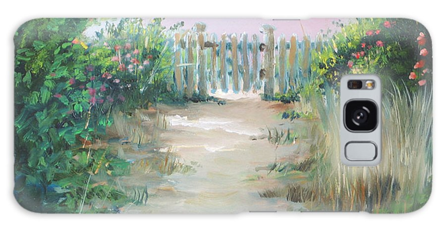 Garden Galaxy S8 Case featuring the painting Garden Fence by Paul Walsh