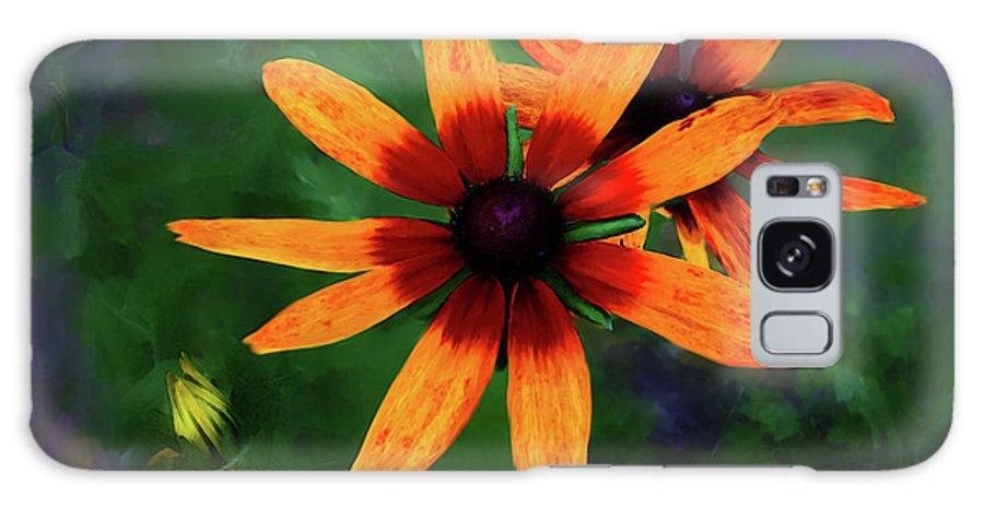 Flower Galaxy S8 Case featuring the digital art Garden Flower by Lisa Redfern