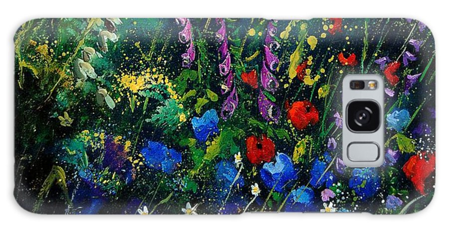 Flowers Galaxy S8 Case featuring the painting Garden Flowers 56 by Pol Ledent