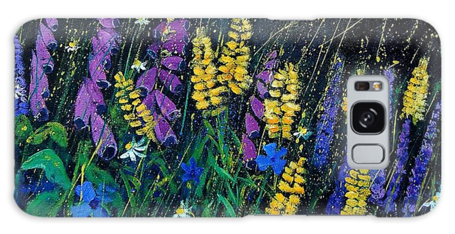 Flowers Galaxy S8 Case featuring the painting Garden Flowers 679080 by Pol Ledent