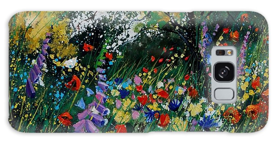Flowers Galaxy Case featuring the painting Garden Flowers by Pol Ledent