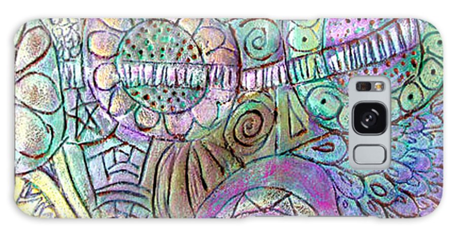 Abstract Galaxy S8 Case featuring the painting Garden In The Sky by Wayne Potrafka