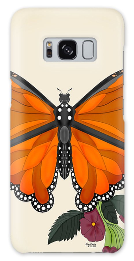 Butterfly Galaxy Case featuring the painting Garden Jewelry by Anne Norskog