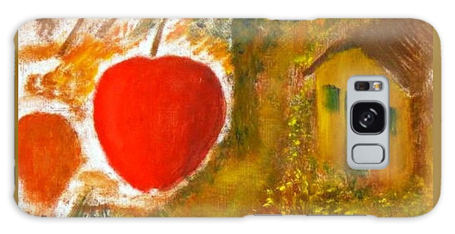 Abstract Apple Adam Ave Galaxy Case featuring the painting Garden Of Eden by R B