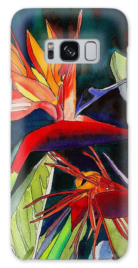 Bird Galaxy S8 Case featuring the painting Garden Of Paradise by Marionette Taboniar