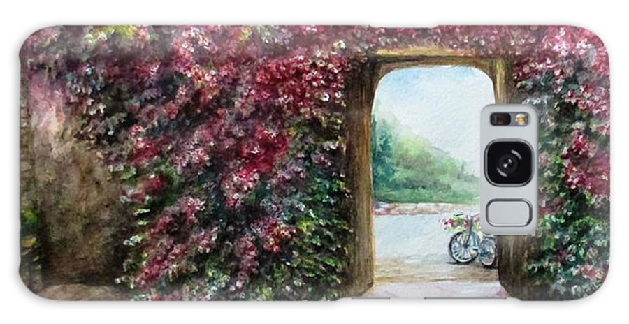 Bike Galaxy Case featuring the painting Garden Rose by Natalja Picugina