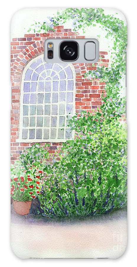Window Galaxy S8 Case featuring the painting Garden Wall by Lynn Quinn