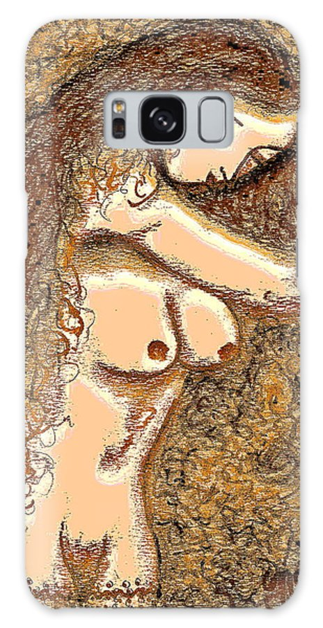 Nude Galaxy S8 Case featuring the painting Gardenia by Natalie Holland