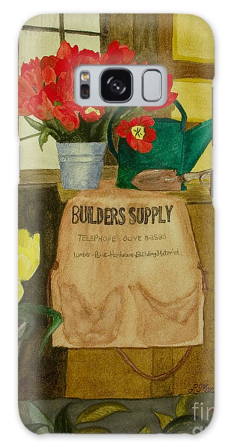 Tulips Galaxy Case featuring the painting Gardner by Louise Magno