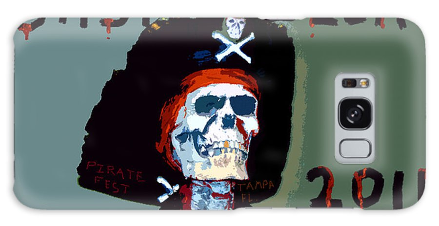 Gasparilla Pirate Festival Galaxy S8 Case featuring the painting Gasparilla 2011 Work Number Two by David Lee Thompson