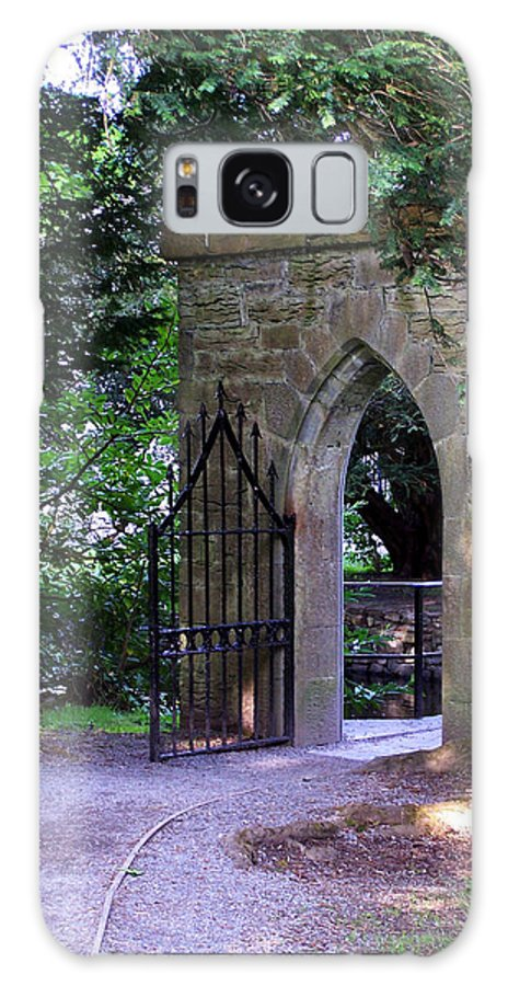Irish Galaxy Case featuring the photograph Gate At Cong Abbey Cong Ireland by Teresa Mucha