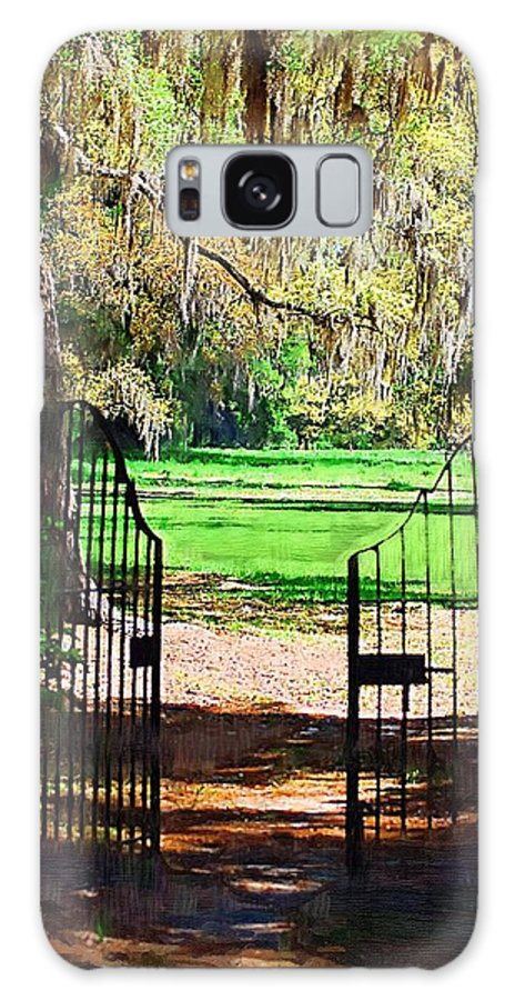 Gate Galaxy Case featuring the photograph Gate To Heaven by Donna Bentley