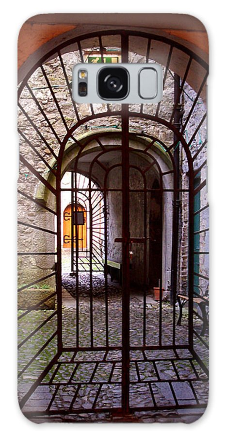 Gate Galaxy Case featuring the photograph Gated Passage by Tim Nyberg