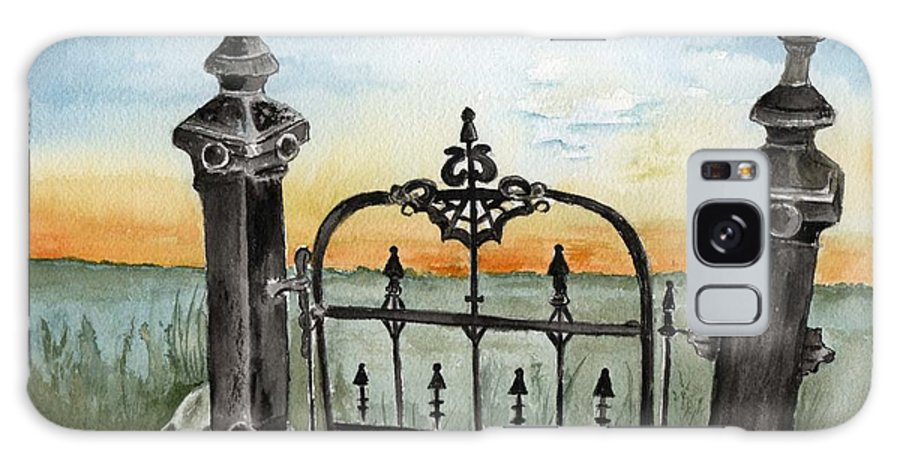 Gate Galaxy S8 Case featuring the painting Gateway by Brenda Owen