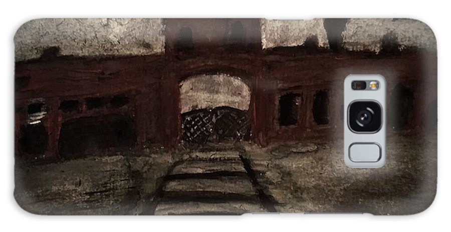 Auschwitz Galaxy S8 Case featuring the painting Gateway by Daniel Donnelly