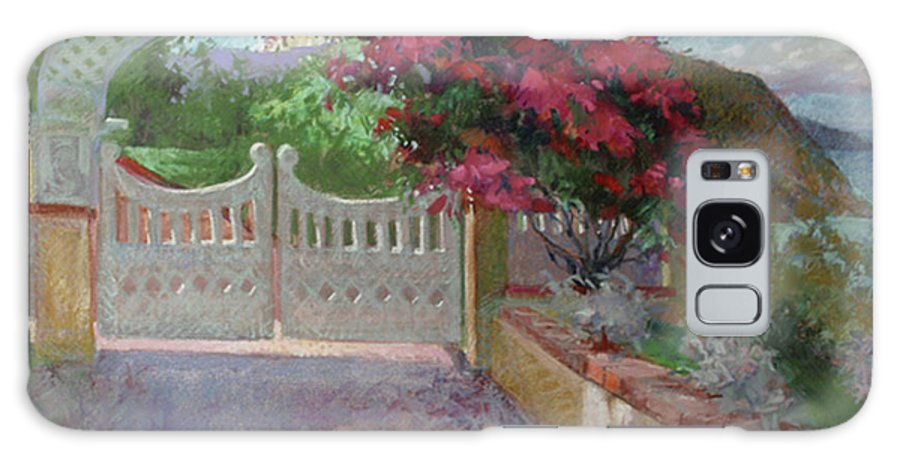 Catalina Island Galaxy S8 Case featuring the painting Gateway Splendor - Catalina Island by Betty Jean Billups