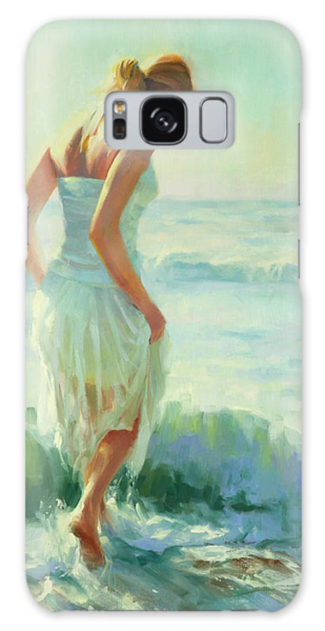 Seashore Galaxy Case featuring the painting Gathering Thoughts by Steve Henderson