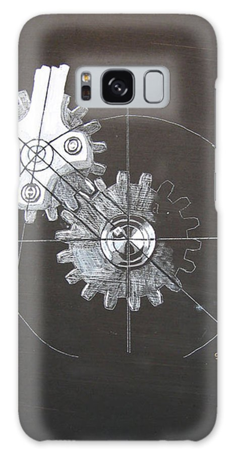 Gears Galaxy S8 Case featuring the painting Gears No1 by Richard Le Page