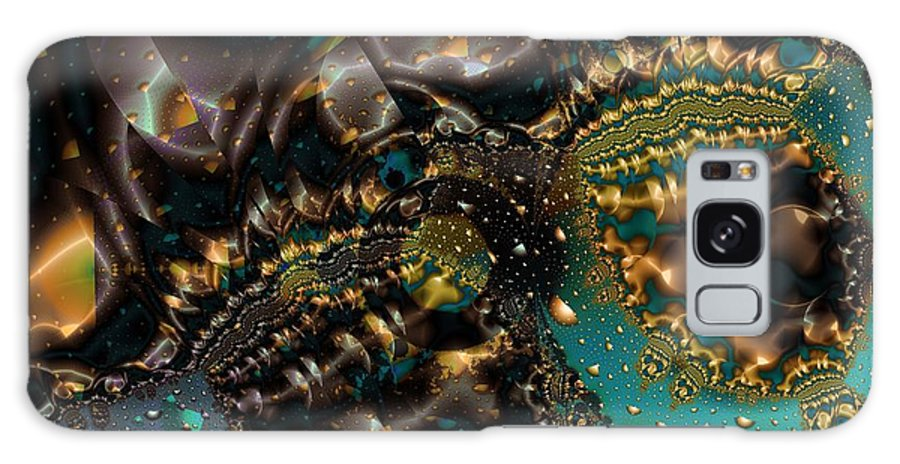 Fractal Art Galaxy S8 Case featuring the digital art Gears Of The Universe Two by Ron Bissett