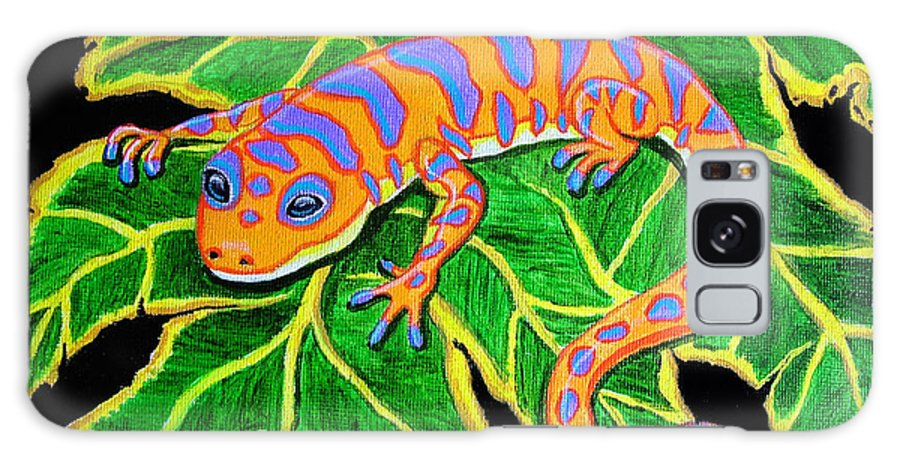 Gecko Galaxy S8 Case featuring the painting Gecko Hanging On by Nick Gustafson