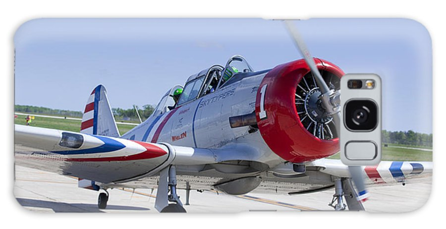 Aerobatics Galaxy S8 Case featuring the photograph Geico Skytypers Snj-2 World War II-era Planes by Anthony Totah